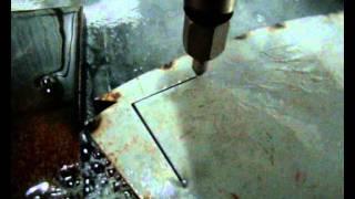 getlinkyoutube.com-Maquina de corte a água Maxiem 1530 Corte em Chapas Empilhadadas de Aço Silício