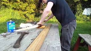 getlinkyoutube.com-traditional archery  , diy  maple  longbow / how i did it