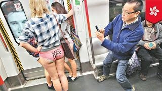 getlinkyoutube.com-No Pants Subway Ride 2014 in Hong Kong