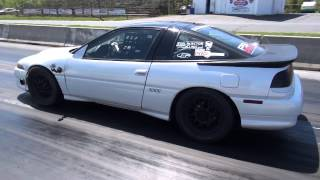 getlinkyoutube.com-6766 1g Eclipse drag car racing! Nasty awd launches K.P. Tuning