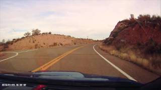 getlinkyoutube.com-Quick drive from Theodore Roosevelt Lake visitor center to Frazier Trailhead