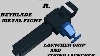 getlinkyoutube.com-Lego beyblade metal fight launcher grip and string launcher