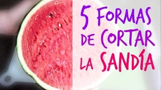 getlinkyoutube.com-Cómo cortar la sandía (5 formas). 5 ways to cut watermelon.