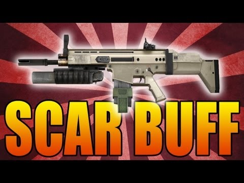 Black Ops 2: The New Scar Weapon Buff! (Call of Duty BO2 Best Class Classes Tips and Tricks)