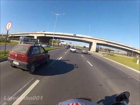 XRE 300 - Buscar óleo - Dica p/ mulheres de moto - 100 inscritos - pulando calçada