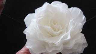 getlinkyoutube.com-How To Make This Elegant Coffee Filter Rose  QUICK