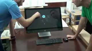Unboxing and starting for the first time HP ENVY Recline 27 k300 All-In-One Touchscreen PC  PART 1