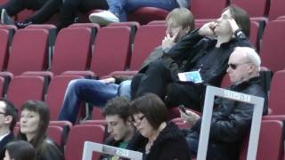 Plushenko и Жубер наблюдают с трибун квалифик. мужчин ЧМ-2011