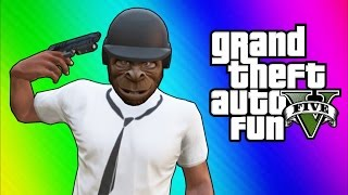 getlinkyoutube.com-GTA 5 Online Funny Moments - Bullet Proof Helmet, Trolling Ohm, ATV Fun!
