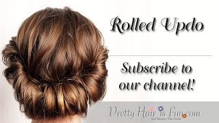 getlinkyoutube.com-How To: Rolled Updo | Pretty Hair is Fun