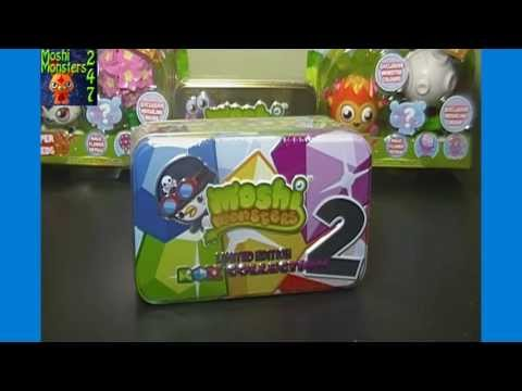 Moshi Monsters Moshlings Limited Edition Rox Collection 2 Tin Opening