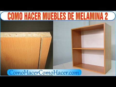 Bricolage como hacer muebles laminados de melamina 2