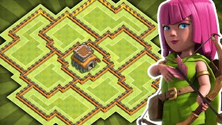 Clash of Clans - NEW Update TH8 DARK ELIXIR Farming BASE!! CoC BEST Town hall 8 Hybrid/Trophy Base!