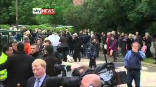 getlinkyoutube.com-The Funeral Of Bee Gee Robin Gibb Taking Place In Thame, Oxfordshire - Sky News