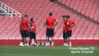 getlinkyoutube.com-Arsenal Full Football Training Session