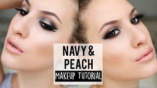 Navy and Peach Spotlight Smoky Eye Makeup Tutorial | MELT Lovesick Stack | JamiePaigeBeauty