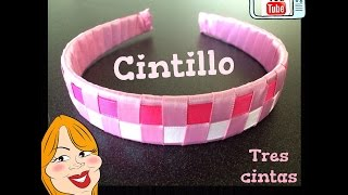 getlinkyoutube.com-Como hacer un Cintillo de 3 cintas - How to make a headband | Creations Nani