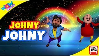 Johnny Johnny - Yes Papa | Motu Patlu I Wow Kidz Rhymes width=