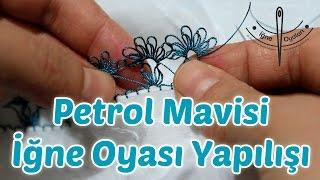 getlinkyoutube.com-Petrol Mavisi İğne Oyası - Namaz Başörtüsü Yapılışı HD Kalite