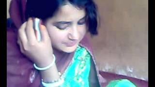 Butiful Pathan Girl Talking on phone