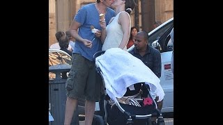 getlinkyoutube.com-Milla Jovovich and Paul WS Anderson on family holiday to Rome with their two daughters