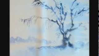 """getlinkyoutube.com-Зимний пейзаж за полчаса. """"Зимнее дерево"""" Упражнение №2"""