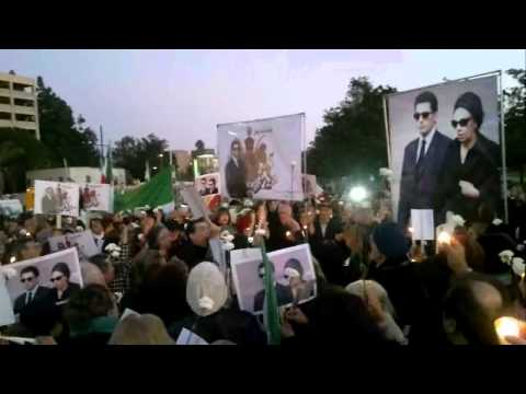 Candle light vigil in remembrance of prince Alireza Pahlavi in Los Angeles