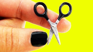 getlinkyoutube.com-✂ DIY MINIATURE DOLLHOUSE SCISSORS (really really  cuts) - simplekidscrafts