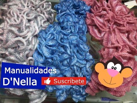 bufandas  tejidas a mano