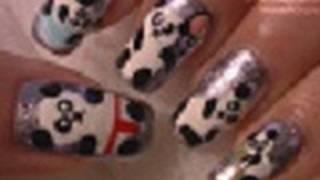 getlinkyoutube.com-PANDAS!!!! Nail Art Tutorial / Arte para las uñas  de pandas