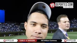 Willson Contreras rumbo a la Serie Mundial con los Cachorros de Chicago