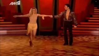 getlinkyoutube.com-Dancing with the stars - Errika Prezerakou, Thodoris Panagakos - Cha Cha