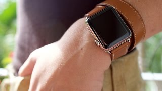 getlinkyoutube.com-Apple Watch Hermès double tour unboxing and hands-on!