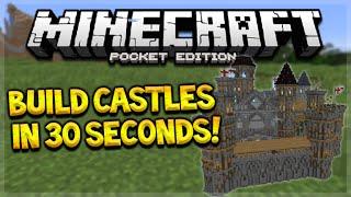 getlinkyoutube.com-BUILD MCPE CASTLES IN SECONDS!! Minecraft PE 0.15.6 - Build Sky Wars, Castles In 30 Seconds!