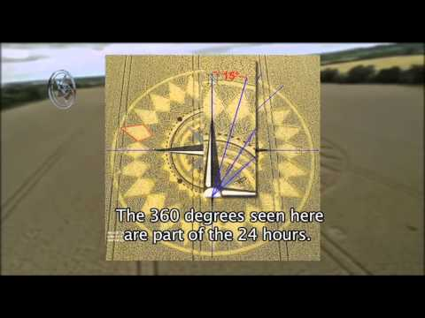 Espectacular Crop Circle con el Ojo de Dios al centro / Amazing Crop Circle with the Eye of God