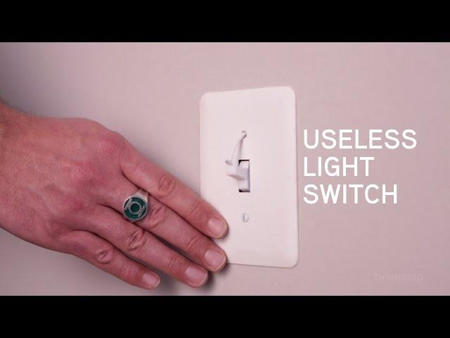 Bathroom Light Goes Off Itself useless light switch | thinkgeek