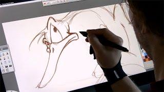 getlinkyoutube.com-Drawing a cartoon on the Wacom Cintiq 22HD (Digital art)