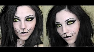 getlinkyoutube.com-Sexy Black Cat | Halloween Makeup