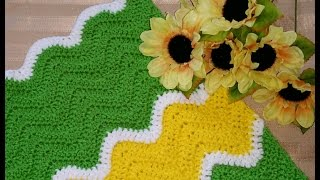 getlinkyoutube.com-Crochet Glama's Sharp Chevron Afghan