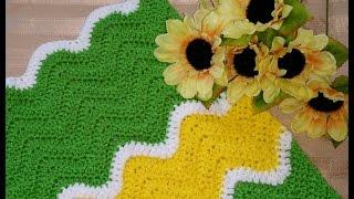 Crochet Glama's Sharp Chevron Afghan