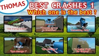 getlinkyoutube.com-The Best Crashes 1 | Thomas and Friends Roblox Accidents Remake