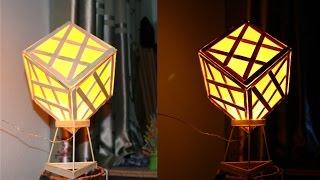 getlinkyoutube.com-Hacer una lámpara utilizando palitos de helado
