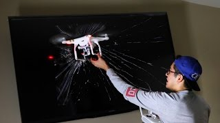 never fly a drone in your house!