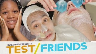 getlinkyoutube.com-People Get Facials For The First Time • The Test Friends