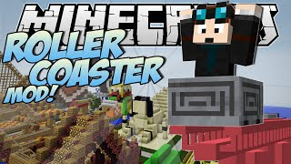 getlinkyoutube.com-Minecraft | ROLLERCOASTER MOD! (Become a Rollercoaster Tycoon!) | Mod Showcase