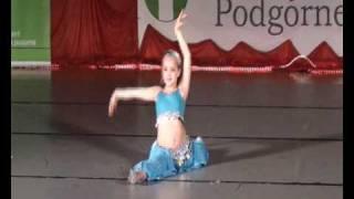 getlinkyoutube.com-Mistrzostwa Polski IDO Belly dance show dzieci do lat 11 Patrycja Paszyńska m-ce I
