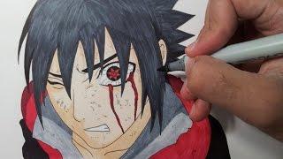 getlinkyoutube.com-Drawing Sasuke Mangekyou Sharingan