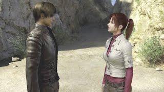 Leon y Claire se despiden - Final Resident Evil Degeneration (Español)