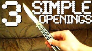 getlinkyoutube.com-Three More Openings/Closings + Tutorial 6 - Beginner Balisong Moves