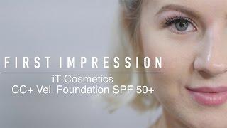 getlinkyoutube.com-FIRST IMPRESSION: iT Cosmetics CC+ Veil Foundation Fluid SPF 50+ | Milabu